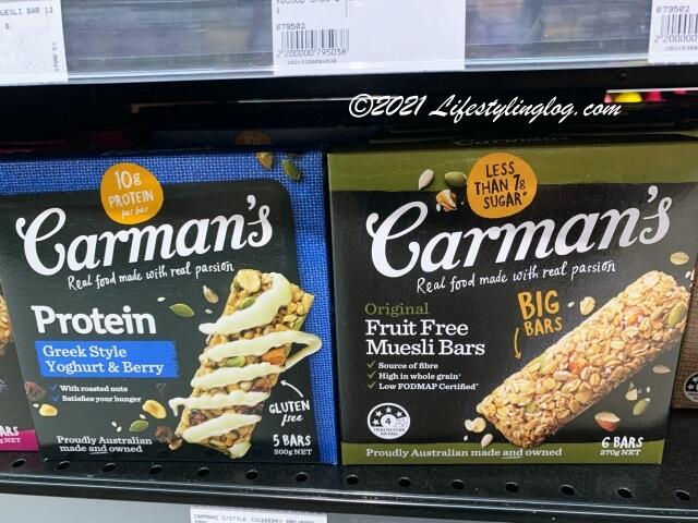 Carman's(カーマンズ)のミューズリーバー(Fruit Muesli Bars)