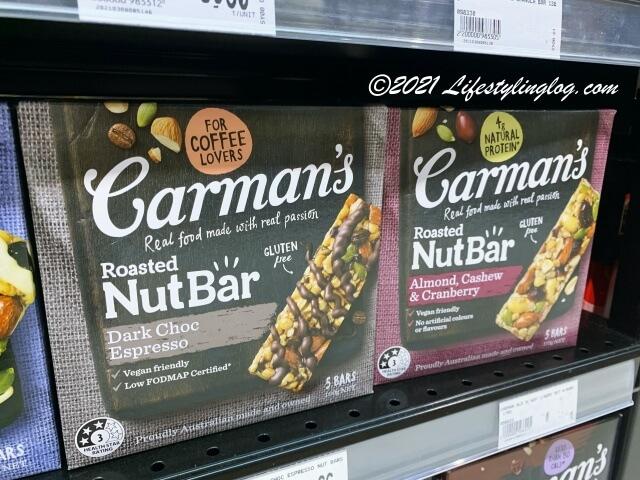 Carman's(カーマンズ)のナットバー(Nut Bar)ダークチョコレートエスプレッソとアーモンドカシュー&クランベリー
