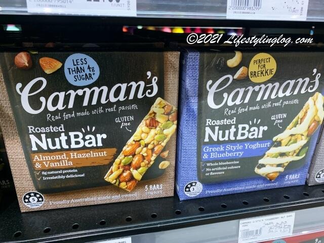 Carman's(カーマンズ)のナットバー(アーモンドヘーゼルナッツ&バニラ)とグリークスタイルヨーグルト&ブルーベリー