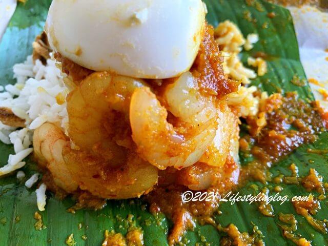 Bungkus Kaw KawのNasi lemak Sambal Udangに使われている海老
