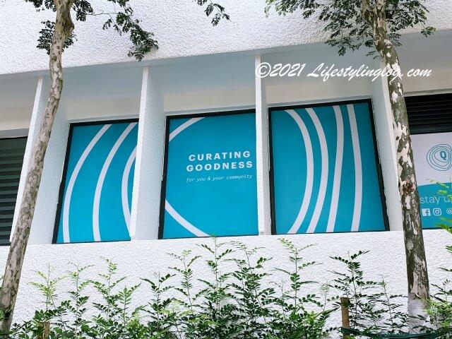 Qraの店名の起源になっているCurating Goodnessというスローガンが記載されたもの