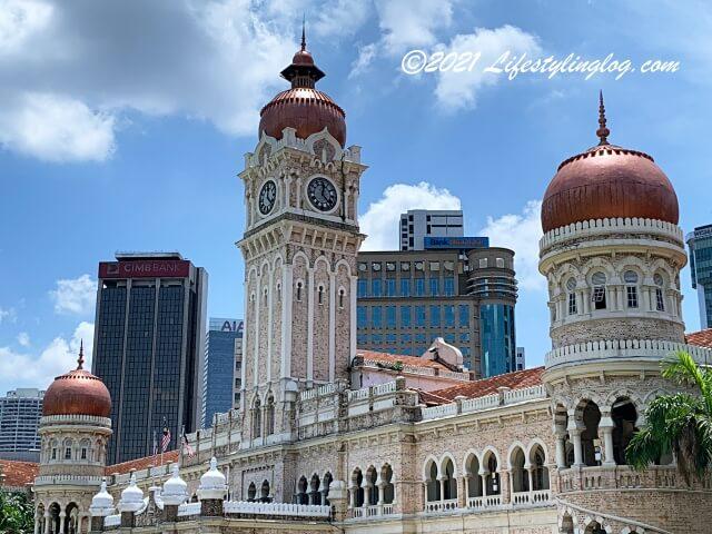 ムガル建築様式を取り入れたSultan Abdul Samad Building(スルタン・アブドゥル・サマド・ビル)