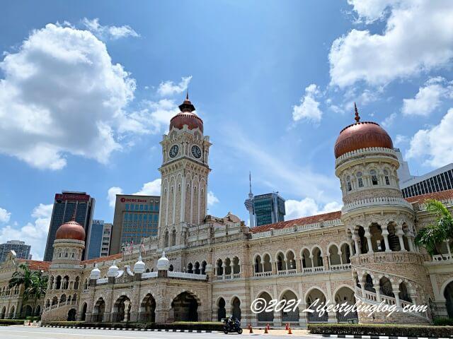 Sultan Abdul Samad Building(スルタン・アブドゥル・サマド・ビル)の全体像