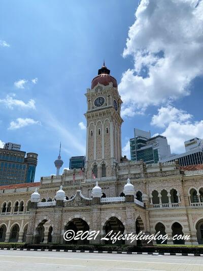 41mの高さを誇るSulan Abdul Samad Buildingの時計台