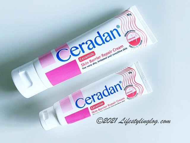 80gと30g入りのCeradan Skin Barrier Repair Cream