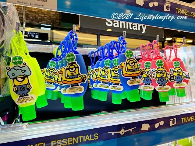 マレーシアのWatsons(ワトソンズ)で販売されているミニオンズデザインホルダー付きのDettol(デトール)のハンドサニタイザー